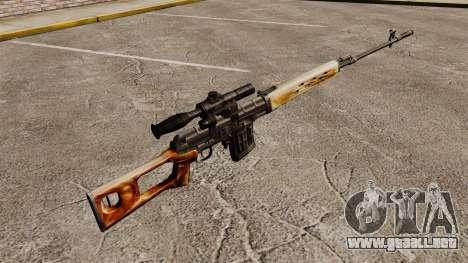 V1 de rifle de francotirador Dragunov para GTA 4 segundos de pantalla