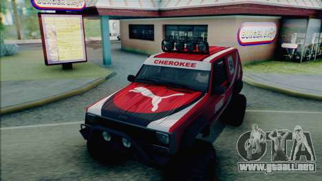 Jeep Cherokee 1984 Sandking para vista inferior GTA San Andreas