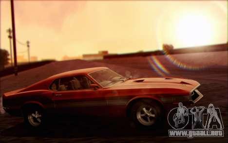Shelby GT500 428 Cobra Jet 1969 v1.1 para la visión correcta GTA San Andreas