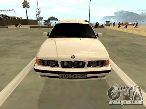 BMW 525 E34 para GTA San Andreas vista hacia atrás