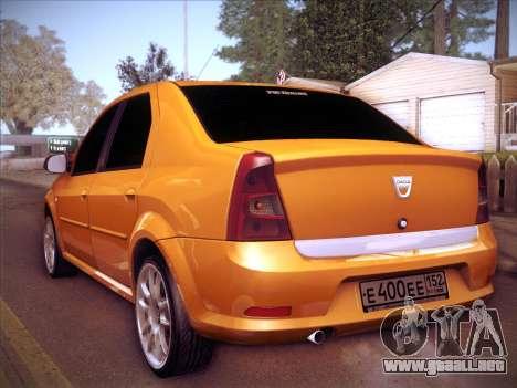 Dacia Logan GrayEdit para GTA San Andreas vista hacia atrás