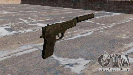 M9 autocargable pistola con silenciador para GTA 4 segundos de pantalla