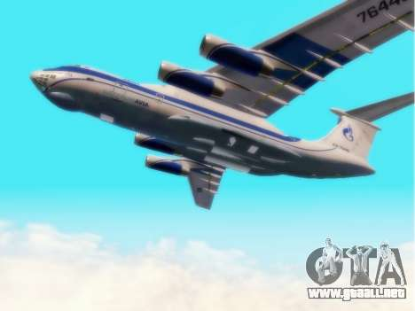 Il-76td Gazpromavia para GTA San Andreas vista hacia atrás