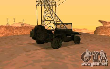 Willys MB v ju2 para GTA San Andreas left
