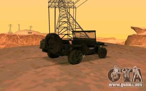Willys MB v ju2 para GTA San Andreas left