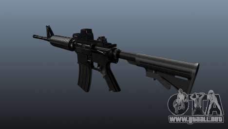 Automático carabina M4A1 táctico para GTA 4 segundos de pantalla
