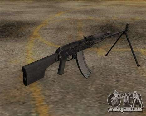El RPK-74 m para GTA San Andreas segunda pantalla