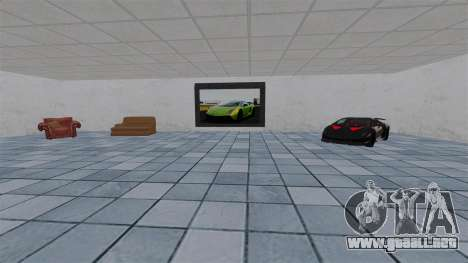 Salón del automóvil de Lamborghini para GTA 4 adelante de pantalla