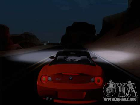 BMW Z4 Edit para visión interna GTA San Andreas
