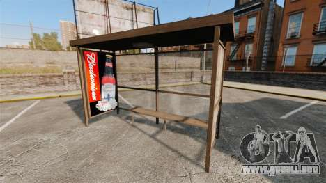 Nuevos carteles en las paradas de autobús para GTA 4 quinta pantalla