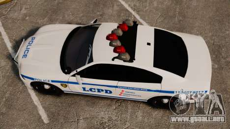 Dodge Charger 2012 LCPD [ELS] para GTA 4 visión correcta