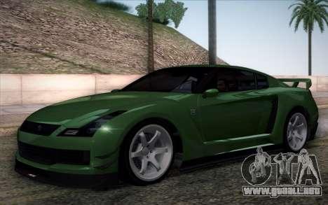 Elegy RH8 from GTA V para visión interna GTA San Andreas