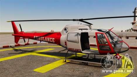 GTA V Police Maverick para GTA 4 vista hacia atrás