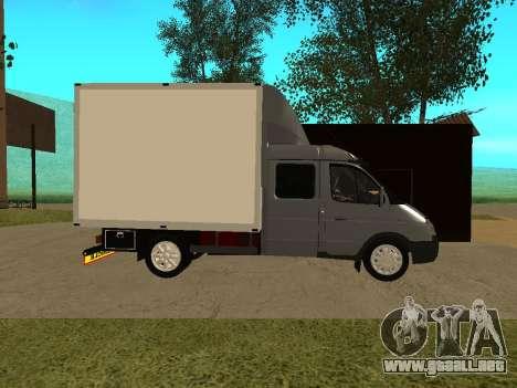 Empresas 33023 gacela para GTA San Andreas vista posterior izquierda