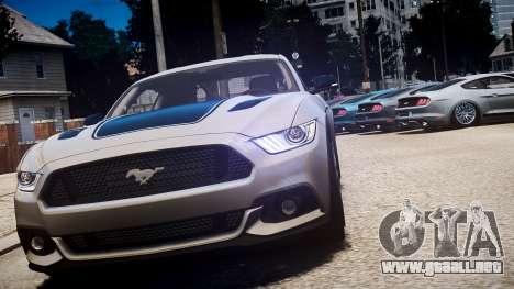 Ford Mustang GT 2015 para GTA 4 vista lateral