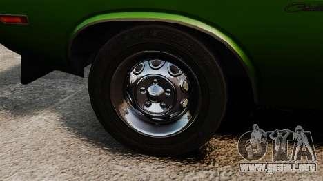 Dodge Challenger 1971 v2 para GTA 4 vista hacia atrás