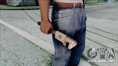 Llave ajustable para GTA San Andreas quinta pantalla