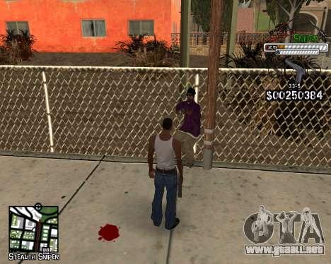C-HUD by Stealth Sniper para GTA San Andreas tercera pantalla