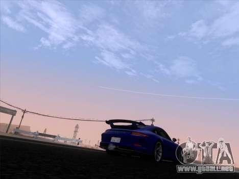 Porsche 911 GT3 2014 para vista lateral GTA San Andreas
