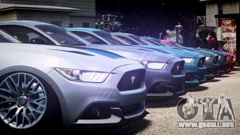 Ford Mustang GT 2015 para GTA 4 vista superior