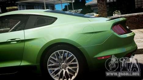 Ford Mustang GT 2015 para GTA 4 visión correcta