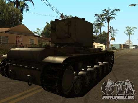KV-2 para GTA San Andreas vista posterior izquierda