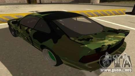 BMW 850CSi 1996 Military Version para GTA San Andreas vista hacia atrás