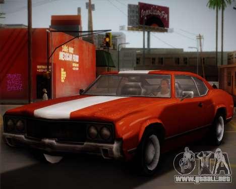 Sabre Turbo para la visión correcta GTA San Andreas