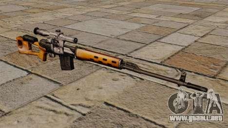 Rifle de francotirador Dragunov de S.T.A.L.K.E.R para GTA 4