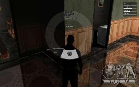 GTA V Weapon Scrolling para GTA San Andreas tercera pantalla