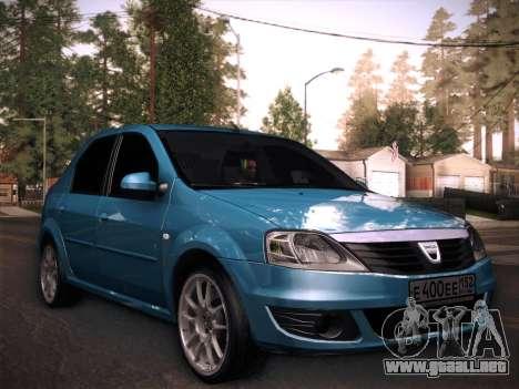 Dacia Logan GrayEdit para GTA San Andreas vista posterior izquierda