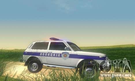 Lada Niva Patrola para GTA San Andreas vista posterior izquierda