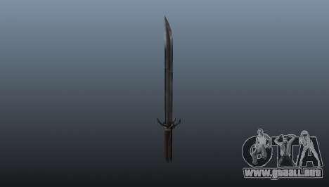 Dishonored Corvos Blade para GTA 4 segundos de pantalla