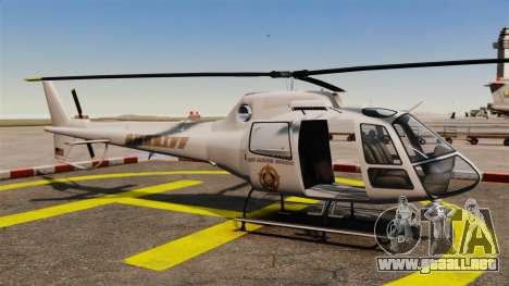 GTA V Police Maverick para GTA 4 visión correcta
