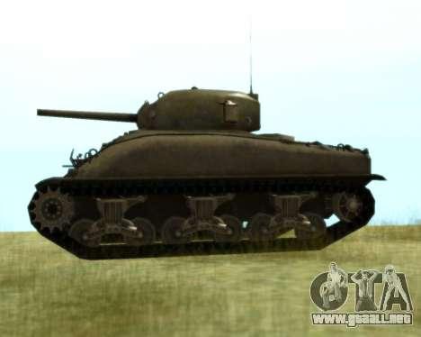 M4 Sherman para GTA San Andreas vista posterior izquierda