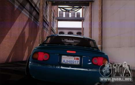 Mazda Miata para GTA San Andreas vista hacia atrás