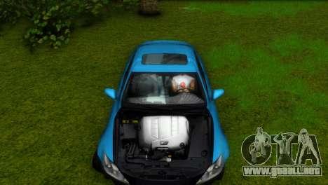 Lexus IS-F para GTA Vice City vista lateral