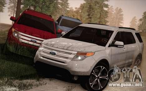 Ford Explorer 2013 para vista inferior GTA San Andreas