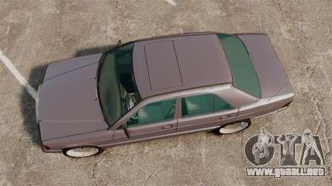 Mercedes-Benz E190 W201 para GTA 4 visión correcta