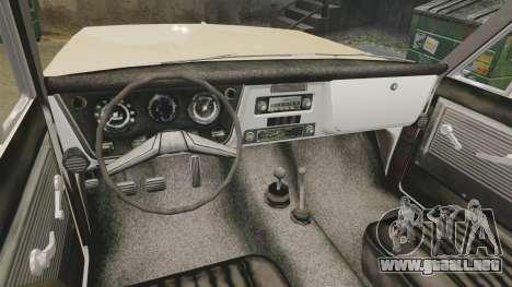 Chevrolet Blazer K5 1972 para GTA 4 vista hacia atrás