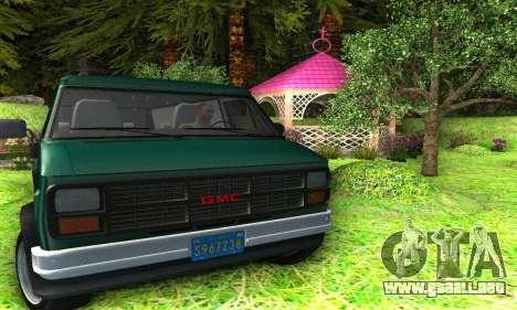 GMC Vandura G-15 1983 Stock para vista lateral GTA San Andreas