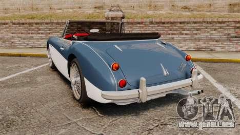 Austin-Healey 3000 Mk III 1965 para GTA 4 Vista posterior izquierda