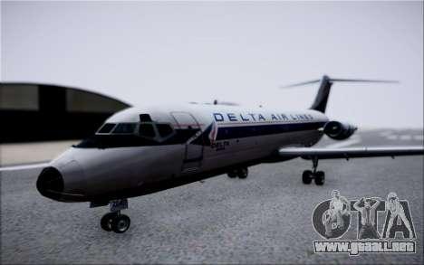 McDonnel Douglas DC-9-10 para visión interna GTA San Andreas