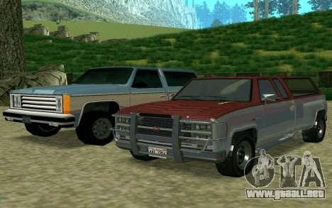 Bobcat XL de GTA 5 para GTA San Andreas vista posterior izquierda