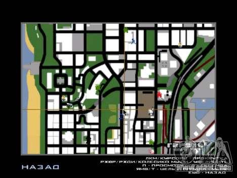 Nueva campana e iconos en el mapa para GTA San Andreas segunda pantalla
