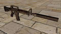 Carabina M4 SMG con silenciador para GTA 4