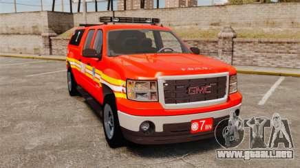GMC Sierra 2500HD 2010 FDNY [ELS] para GTA 4
