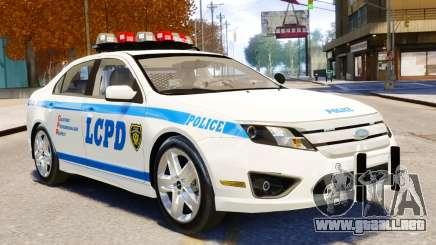 Ford Fusion LCPD 2011 [ELS] para GTA 4