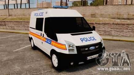 Ford Transit 2013 Police [ELS] para GTA 4