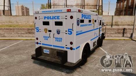 Enforcer LCPD [ELS] para GTA 4 Vista posterior izquierda